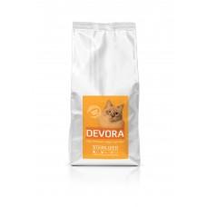 Hrana uscata pentru pisici Devora Grain Free Sterilizat cu curcan pui si hering 400 g