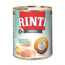 Hrana umeda pentru caini Rinti Sensible cu pui si cartof 800 g
