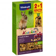 Baton pentru iepuri Vitakraft Kracker Nuci 112gr +56gr Gratis