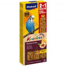 Baton pentru perusi Vitakraft Kracker Smochine & Caise 60gr+30gr Gratis