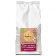 Hrana semi-umeda pentru caini Petkult adult talie mica curcan caprioara si orez 1.5 kg