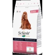 Hrana uscata pentru caini Schesir Medium Adult Monoprotein cu sunca 3 kg