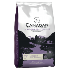 Hrana uscata pentru pisici Canagan Light Senior Sterilised cu pui 375 g