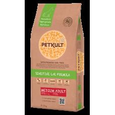 Hrana uscata pentru caini Petkult Sensitive Medium Adult cu miel si orez 12 kg