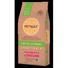 Hrana uscata pentru caini Petkult Sensitive Medium Junior cu miel si orez 12 kg