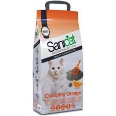 Nisip pentru litiera Sanicat Clumping cu portocale 5 L
