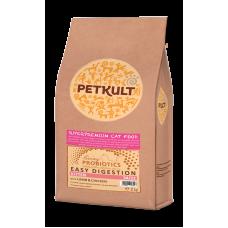 Hrana uscata pentru pisici Petkult Probiotics Kitten cu miel si pui 2 kg