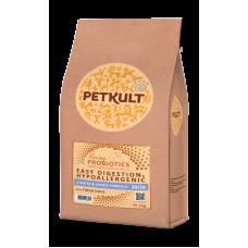 Hrana uscata pentru caini Petkult Probiotics Starter Junior cu rata si orez 2 kg