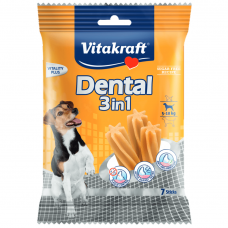 Recompensa pentru caini Vitakraft Dental Snack 3in1 Small 120 g