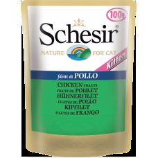 Hrana umeda pentru pisici Schesir Junior cu pui 100 g
