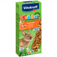 Baton pentru iepuri Vitakraft Kracker cu Miere si Grau Spelt 112 g