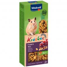 Baton pentru hamsteri Vitakraft Kracker cu nuci 112 g