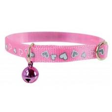 Zgarda pentru pisici reflectorizanta Zolux roz 30 cm