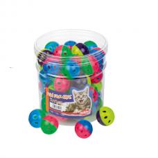 Jucarii pentru pisici Nobby Bila color 42 buc 4 cm
